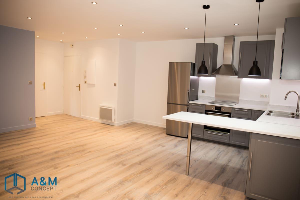 appartement dan saint maurice kiffetonchantier 5 - Rénovation de salle de bain & cuisine à Saint-Maurice
