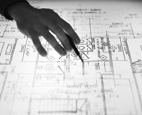 conseils architecture et conception 495x400 - Nos expertises en aménagement & rénovation d'appartement ou maison